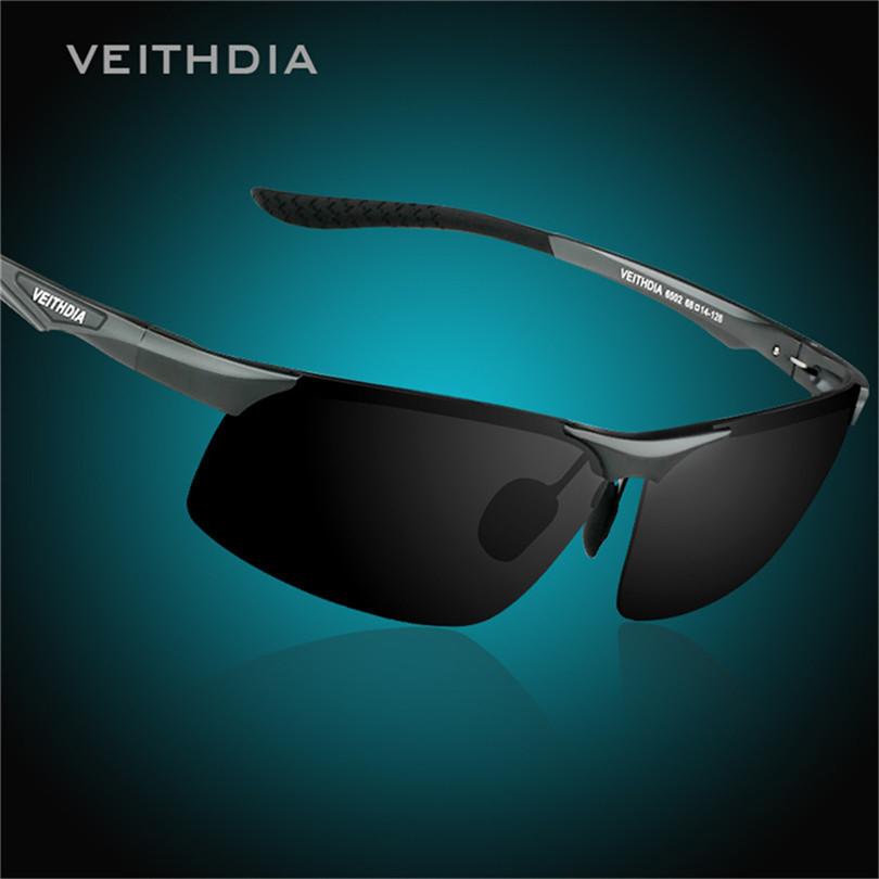 VEITHDIA 6502 Aluminum Magnesium Alloy Men Sunglasses Polarized Lens Driver Mirror Glasses Male Outdoor Sports Goggle