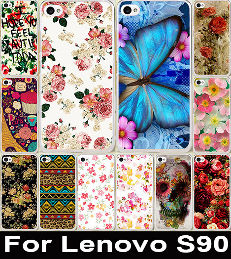 Colorful Brilliant Rose Peony Beautiful Flower Painting Case Cute Colored Drawing Hard Plastic For Lenovo S90
