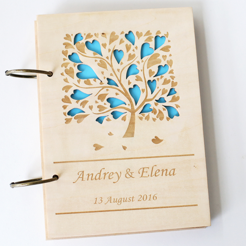 LOVE TREE CUSTOM WOOD WEDDING GUEST BOOKS UNIQUE WEDDING GUESTBOOK BRIDAL SHOWER BOOK WEDDING PHOTO ALBUM