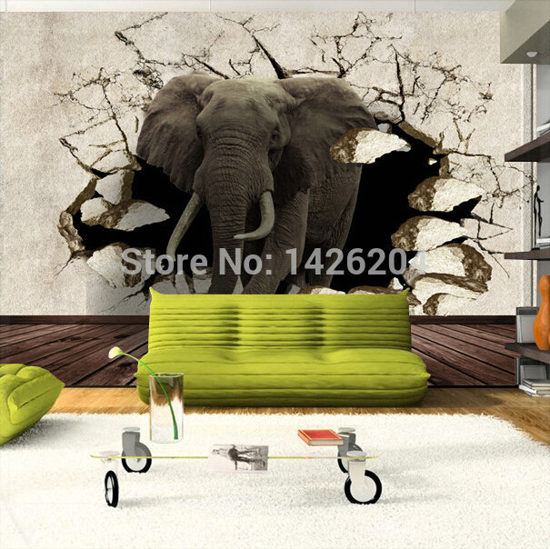 great wall 3d animal tv background wallpaper mural rhinoceros elephant 3d stereo large murals 3d. Black Bedroom Furniture Sets. Home Design Ideas