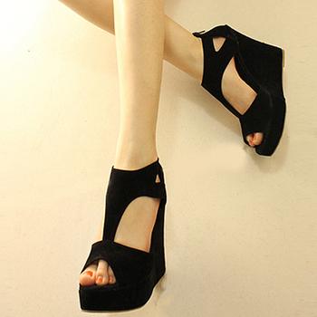 Hot!!! 2013 sandals platform shoes thin open toe platform wedges female shoes