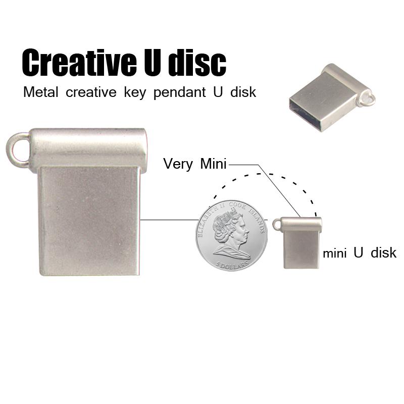 metal mini usb flash drive 16gb memory stick usb 2.0 pen drive Pendrive flash storage memory stick free shipping(China (Mainland))
