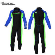 SLINX Boys Girls Diving Suit Keep Warm Children Wetsuit One Piece Beach Swimming Snorkeling Kids Clothes(China (Mainland))