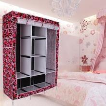 "48.4"" Portable Waterproof Closet Storage Organizer Wardrobe Clothes Rack Shelves(China (Mainland))"