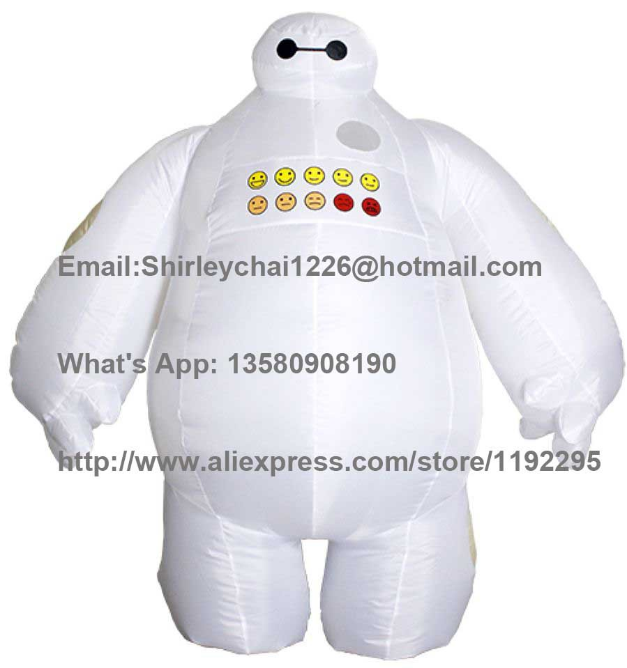 Halloween Inflatable costume Big Hero 6 Baymax Party Cosplay costume for men adult inflatable clothing baymax Mascot Cosume(China (Mainland))