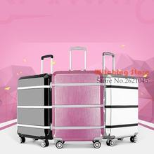 Buy 24 INCH 20242629# upgraded version latest fashion trolley luggage aluminum frame password box # FREE SHIPPING for $192.50 in AliExpress store