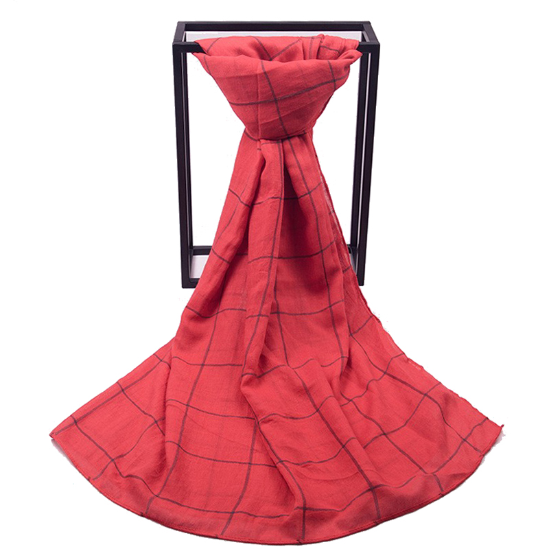 New Arrival Red Check Women Blanket Warp Cape Lady Plaid font b Tartan b font Scarf