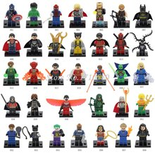 Marvel DC Super Heroes Minifigures 34pcs/lot Avengers Iron Man Batman Building Blocks Sets Model Bricks Toys  Compatible Lego(China (Mainland))