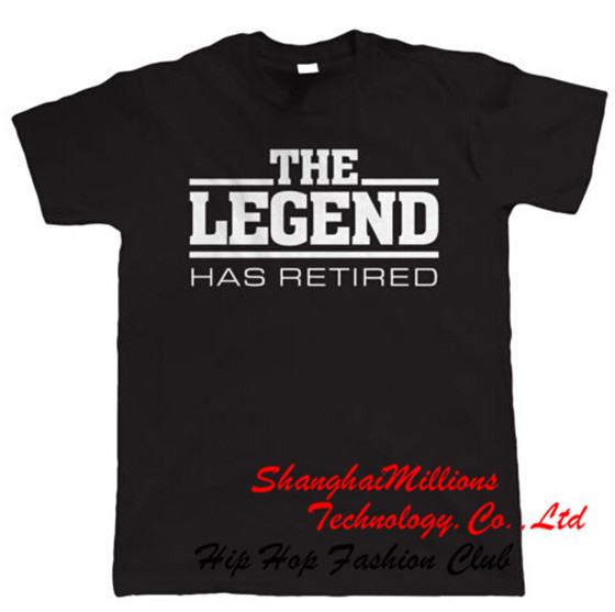 The Legend Has Retired Mens Funny Retirement T Shirt - Gift for Dad Grandad(China (Mainland))