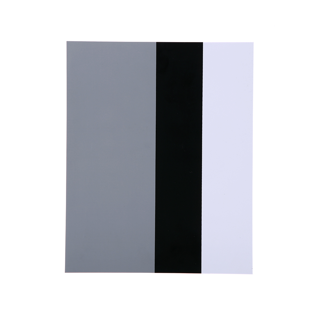"Photo Studio Accessories Color Tools 8"" *10"" 3 Color Single Block 18% Gray + Black + White Card for Film and Digital(China (Mainland))"
