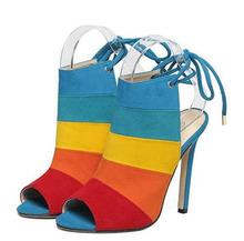 shoes woman sandals thin heel Summer shoes Woman Open toe high heels Gladiator Sandals Women heels