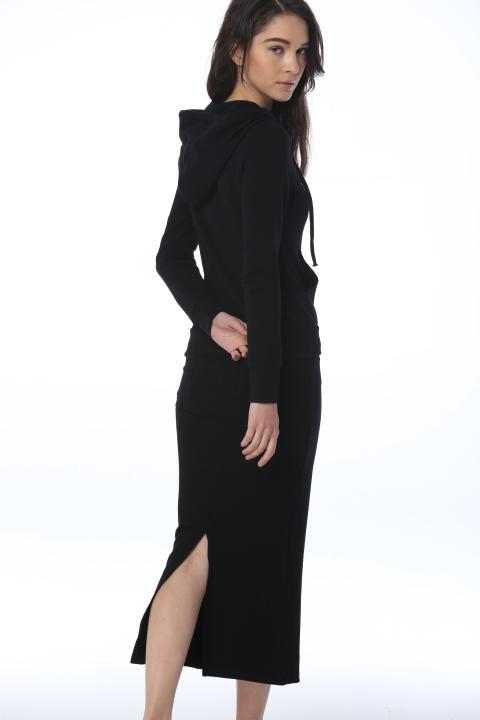 2014 autumn winters suit womens long sleeve black coat + pencil dresses woman casual plus size dressQ15253Одежда и ак�е��уары<br><br><br>Aliexpress