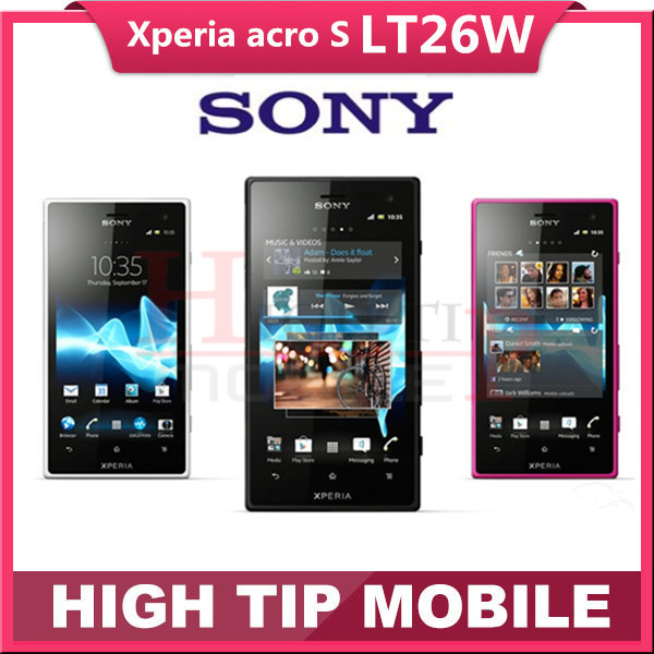 Original unlocked Sony Xperia acro S LT26w mobile phone16GB Dual-core Android 3G GSM WIFI GPS 12MP Refurbished dropshipping(China (Mainland))