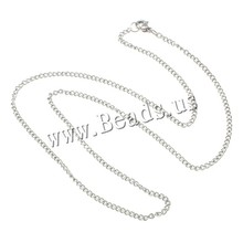 Women Men Stainless Steel Twist Oval Chain With Lobster Clasp Basic Link Chains DIY Pendant Necklace Silver Jewelry Accessories(China (Mainland))