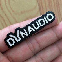4X DYNAUDIO フェンダースピーカーアルミ 3D ステッカートランペットホーンサウンド文字のステッカー車のスタイリングフォルクスワーゲン VW CC ニュービートル(China)