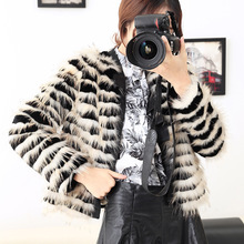 Free shipping fashion New arrival winter 2016 raccoon fur coat short dress haining leather lady's real fur coats