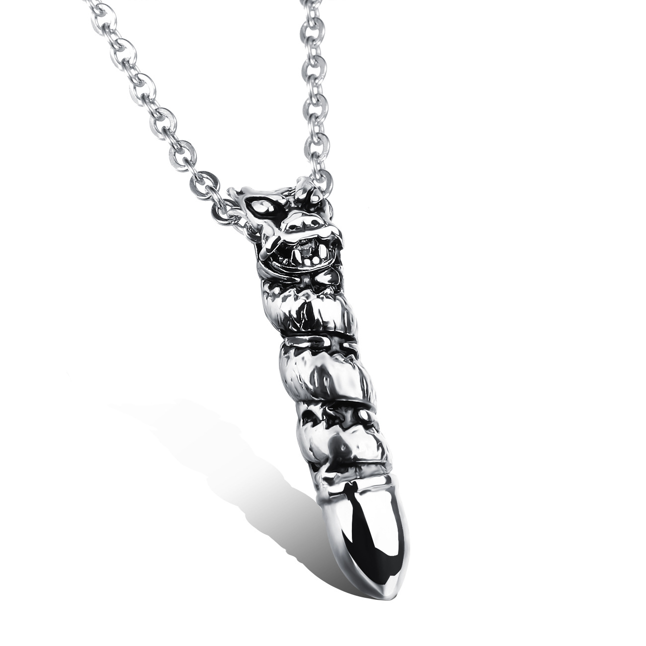 Fashion Retro Dragon Man Pendant Necklaces Personality Stainless Steel Mens Friendship Jewelry Link Chain Rock Style(China (Mainland))