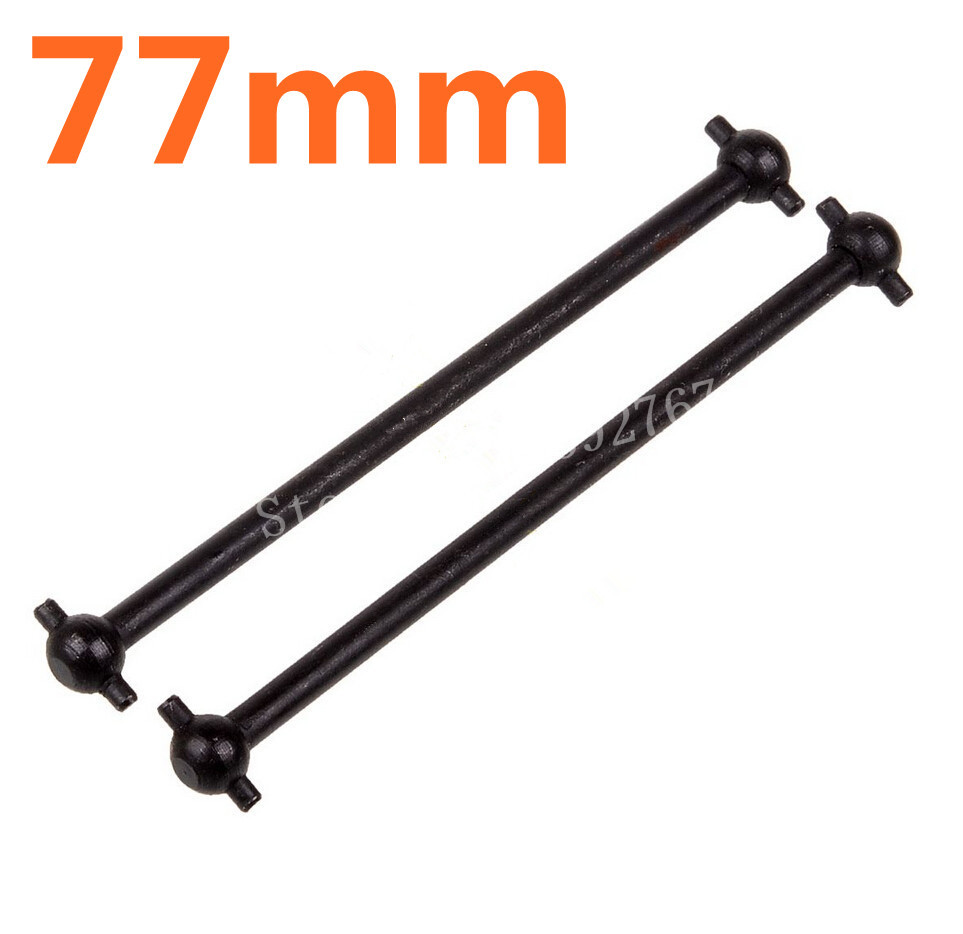 HSP Spare Parts 2Pcs Dogbone 77mm For 1/10 Scale Nitro Power Off Road Advanced Truck 94188 MONSTER(China (Mainland))