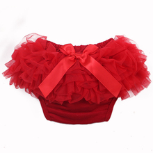 Baby Cotton Bloomers Diaper Cover Newborn Cute Tutu Ruffled Panties 7 Colors Baby Girls Lace Crumple 2015 Hot Retail Baby Shorts(China (Mainland))