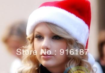 Christmas decoration gift christmas tree Christmas supplies santa claus hat flannelet DHL FREE SHIPPING!