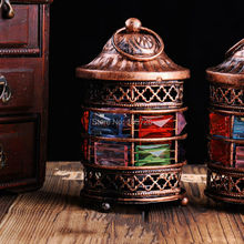 Free shipping morocco style Iron antique lantern with free tea light for home gallery decoration candle holder as night light(China (Mainland))
