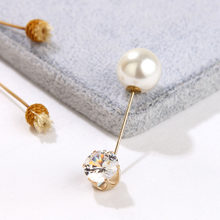 2019 di Alta Qualità Dell'annata Oro Spilla Spilli Doppia Testa di Simulazione di Perle di Grandi Dimensioni Grandi Spille Per Le Donne Monili di Cerimonia Nuziale Accessori(China)