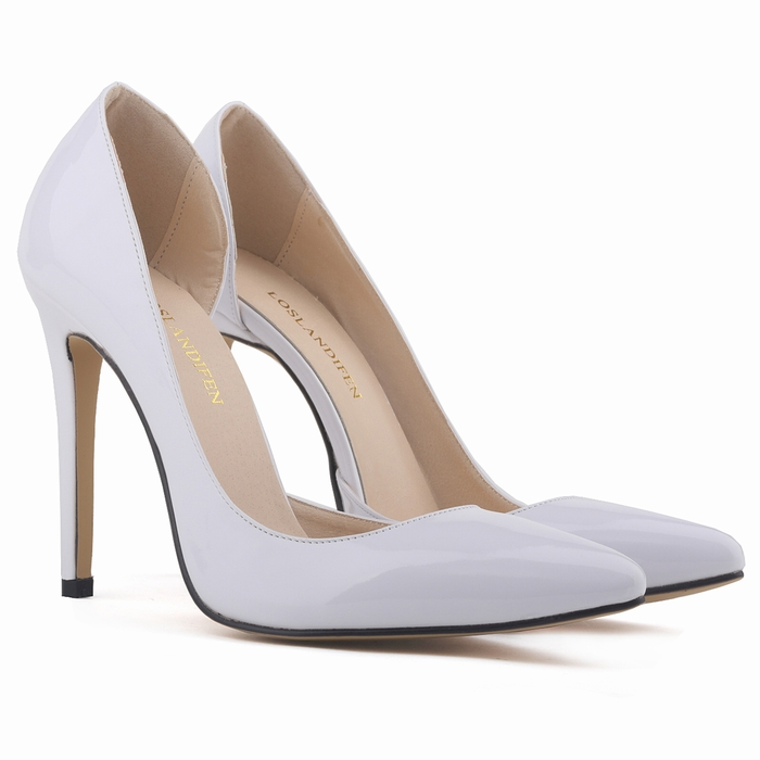 Brand design shoes woman high heel patent leather pointed toe women pumps 15 colors wedding female calzado mujer 302-18 - Feng shang co., LTD store