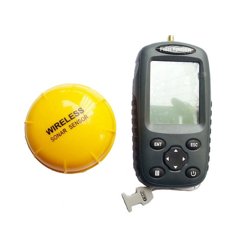 Portable Wireless Fish Finder Echo-Sounder Fishing Depth Sounder 125kHz Sonar Sounder Range 0.6-40M Alarm Transducer Fishfinder(China (Mainland))