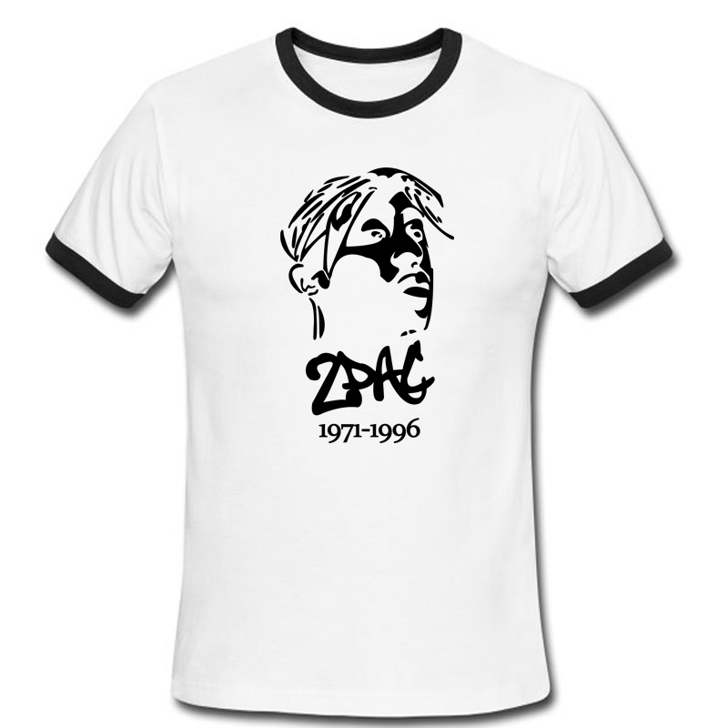 Tupac Amaru Shakur Men T Shirt Logo Pattern Short Sleeve 2Pac Makaveli Male Fashion Hip Hop t-shirts Stylish Tees(China (Mainland))