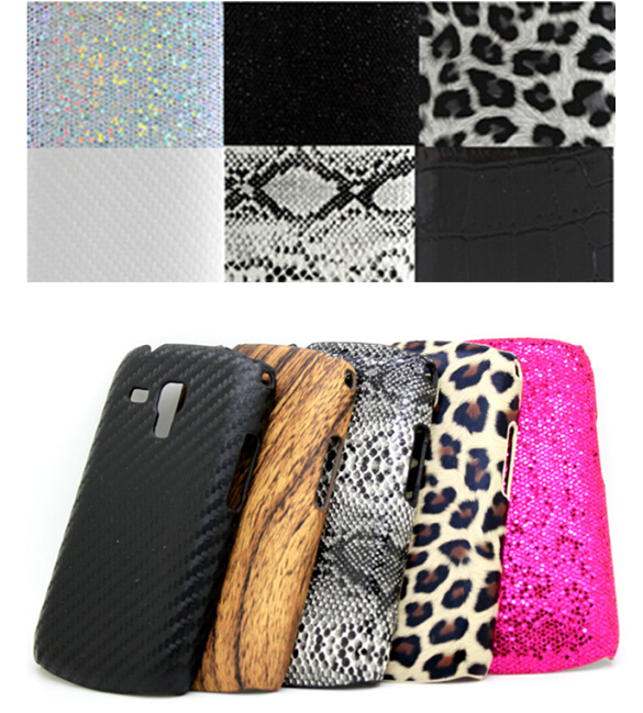 High Quality Luxury Leather Hard case Leopard Wood Swirl Snake Plastic Case Skin Back Cover for Samsung Galaxy Ace II X S7560M(China (Mainland))