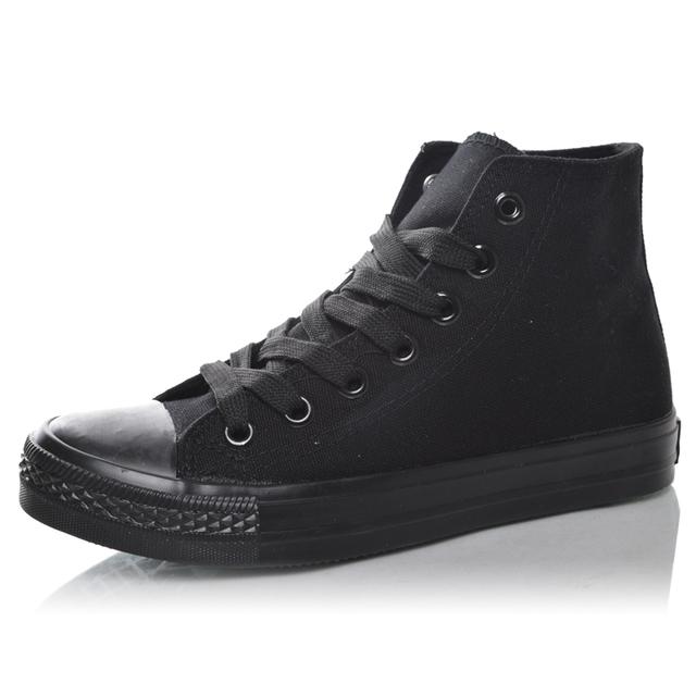 Удобной пружинной высокого плоским холст обувь черный мужской ученица любителей обувь ...