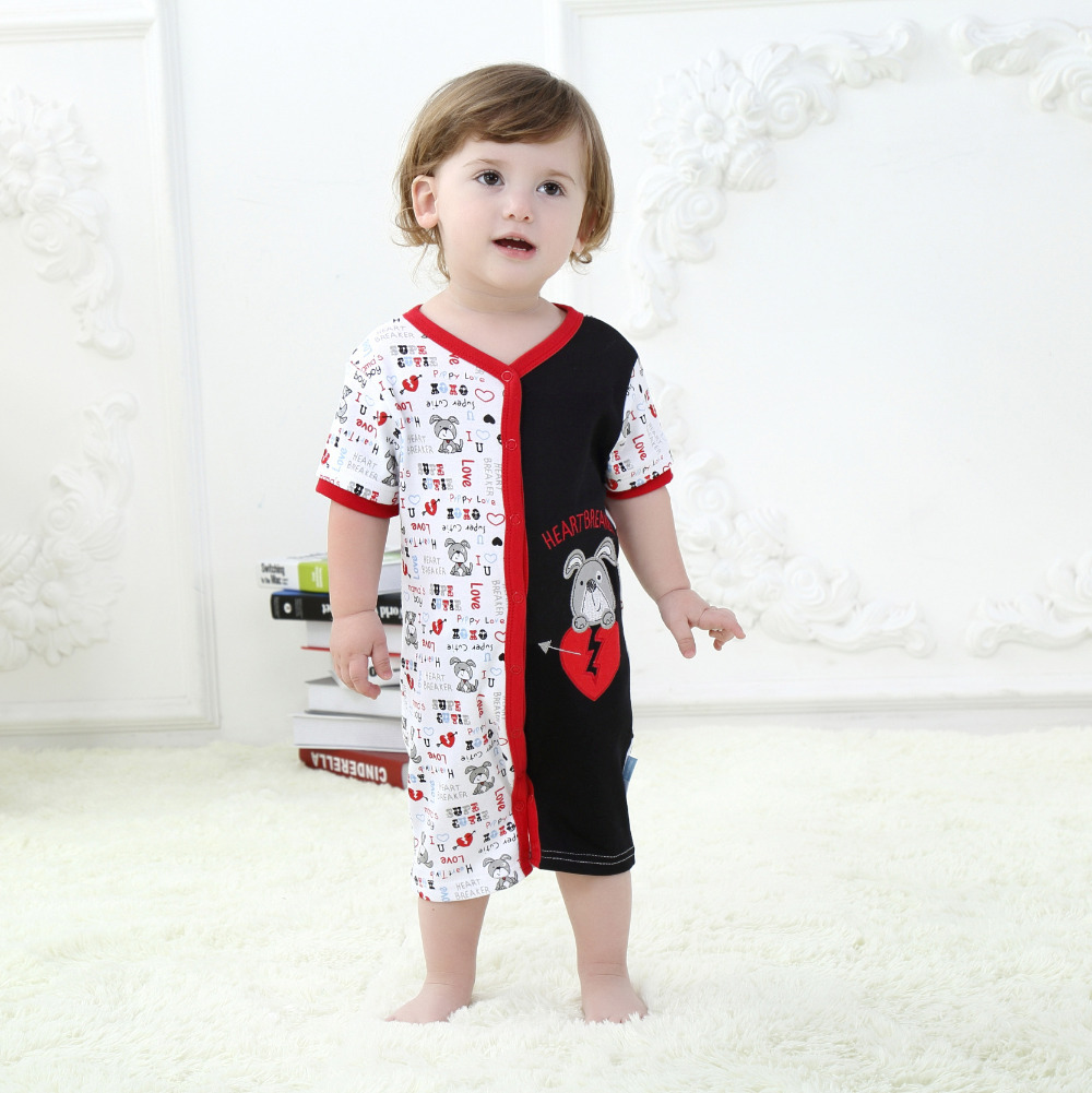 Cute dog baby clothing summer style baby boy romper hot sale baby clothes 818 in rompers from - Baby gear for small spaces style ...
