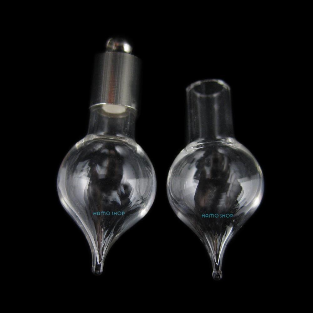 20pcs g9 blown glass small bottle sticky cap stopp blown glass bottle pendant