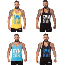 Summer Style Man Brand Gym Workout Tank Cotton Breathable Bodybuilding Training Sports Exercise Vest Fitness Tops