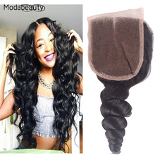 Brazilian Virgin Hair Deep Wave Swiss Lace Closure Grade 6A High Quality Density Bleached Knots