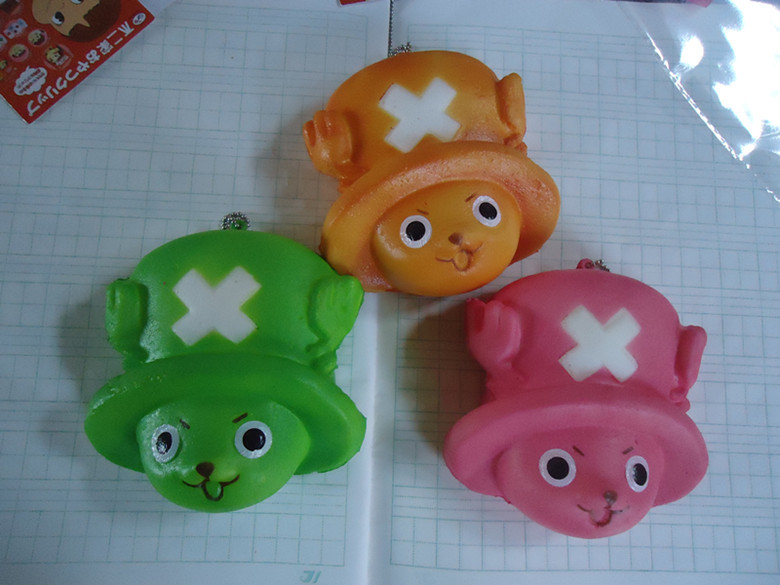 20pcs/lots 8cm one pieces bread squishy in good packaging