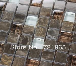 Design deco glass mosaic kitchen backsplash wall tiles SGMT036 stone glass mosaic backsplash tiles polished glass mosaic tile