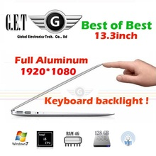 14inch  Aluminium ultrabook slim gaming Laptop computer notebook Intel I7  SSD + HDD HDMI LED Webcam