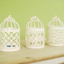 white birdcage candle holders, 3pieces/lot, wedding decoration, free shipping,  iron candlestick,lantern(China (Mainland))