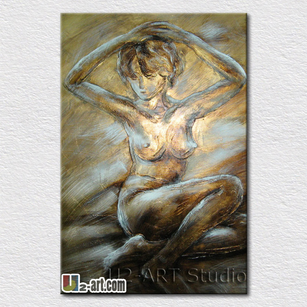 Hot selling nude lady oil painting modern living room decoration canvas pictures for friends gift reproduction(China (Mainland))