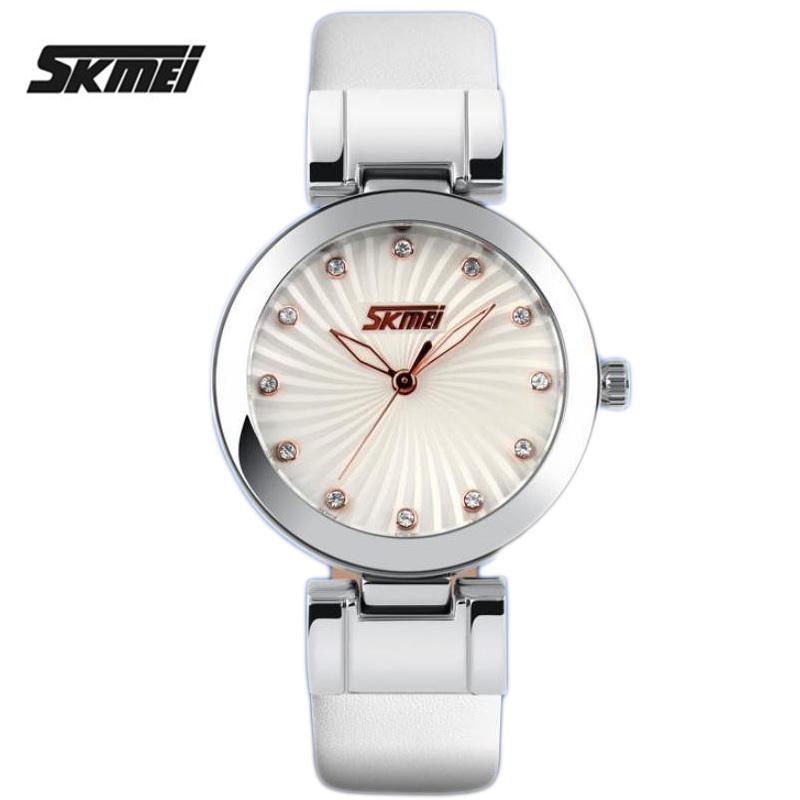 Watch women Fashion Casual waterproof quartz watches leather brand luxury watch women Popular wristwatch Relogio Feminino skmei<br><br>Aliexpress