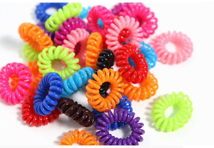 !!2014 new fashion elastic Telephone Line Hair Band hair ring / rope spring rubber band 10 - beallsmile smile's store