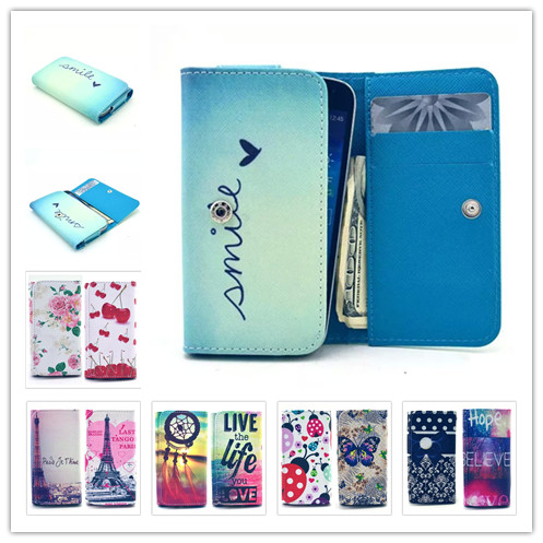 Painting Leather Phone Cases For Alcatel One Touch Pop 2 4.5 Dual SIM 5042D 5042E Wallet Style With Card Slot Back Cover Case(China (Mainland))