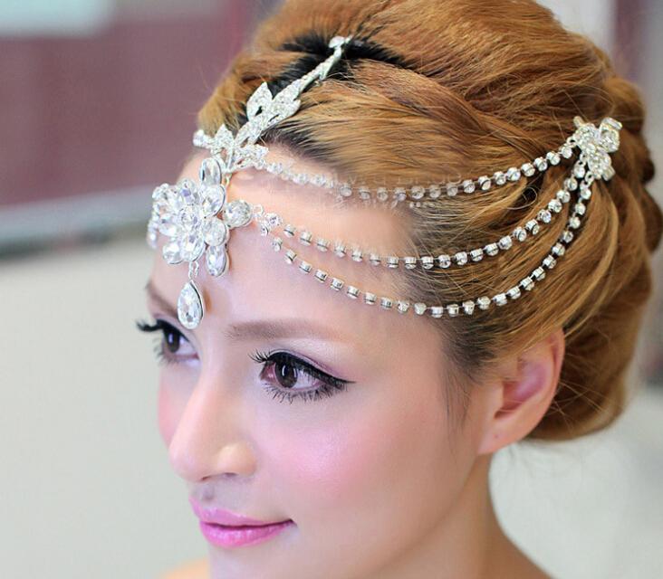 High quality! Factory Price 2015 Fashion Handmade Wedding Bridal Headpiece Tiaras Bridal Crystal Flower Crown For Woman Gift(China (Mainland))