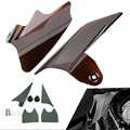 Reflective Smoke Saddle Shield Air Heat Deflector Fit 97 07 Harley Street Glides