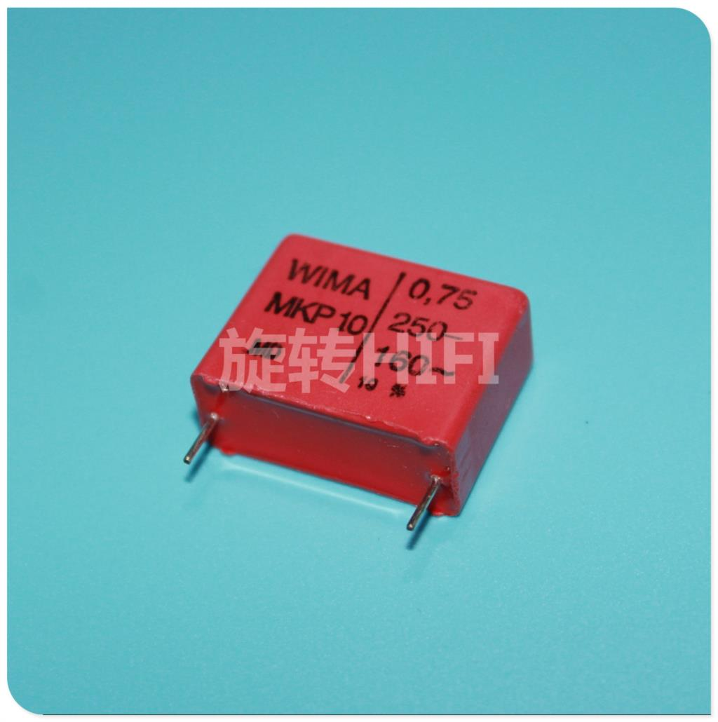 20pcs Red WIMA MKP10 0.75uf 750nf 754/250v new audio for capacitance P22 free shipping(China (Mainland))