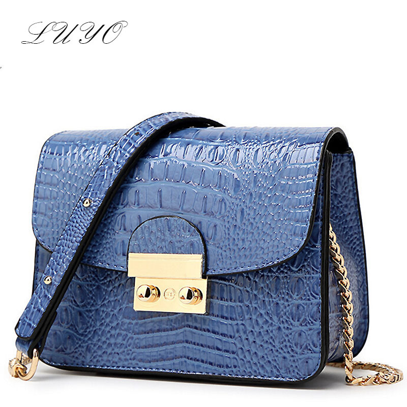 LUYO Designer Famous Brand 2016 Ladies Handbags Women Leather Messenger Bags Chain Small Hasp Summer Bolsas Feminina Flap(China (Mainland))