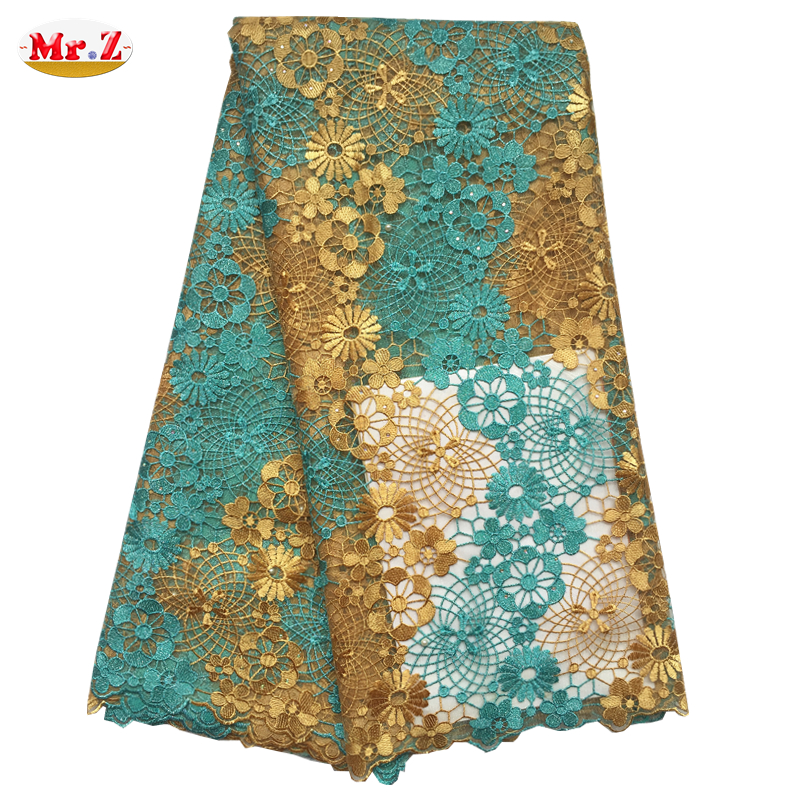 Mr.Z High Quality African Tulle Lace Fabric Embroidered Tulle Lace Fabric Latest French Swiss Net Lace Fabric For Dress N1048(China (Mainland))