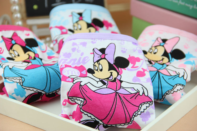 New cartoon children's underwear cotton Minnie baby girls panties kids princesses briefs girl boxers calcinha infantil 6pcs/lot