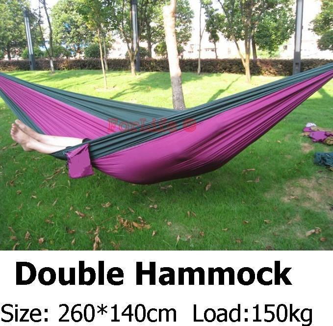Double Hammock Camping Survival Hammock Parachute Cloth Portable Double Person Hammock outdoor Leisure(China (Mainland))